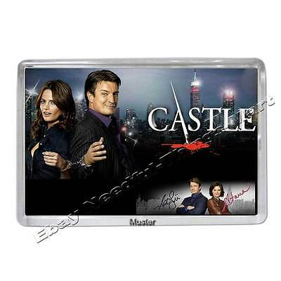 CASTLE mit Stana Katic alias Kate & Nathan Fillion  - Fotomagnet 5mm Acryl [M1]