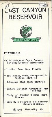Fish-n-Map Co. LAST CANYON RESERVOIR copyright 1988