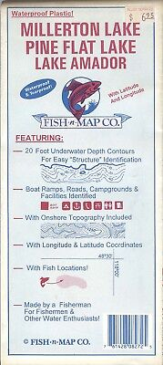 Fish-n-Map Co. MILLERTON PINE FLAT LAKE AMADOR California