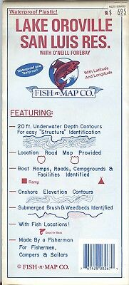 Fish-n-Map Co. LAKE OROVILLE SAN LUIS RESERVOIR  California