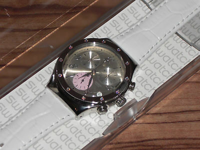 Swatch Irony Edelstahl Chrono Time in Rose YCS513 OVP + neue Batterie