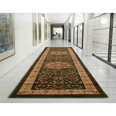 Hallway Runner Hall Runner Rug Persian Green 4 Metres Long FREE DELIVERY IG