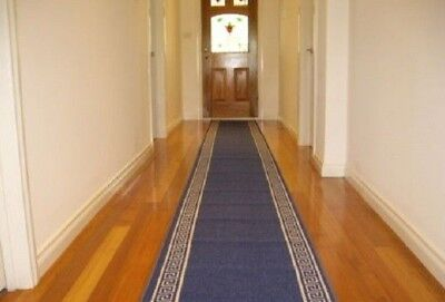 Hallway Runner Hall Runner Rug Modern Blue 5 Metres Long We Can Cut To Any Size