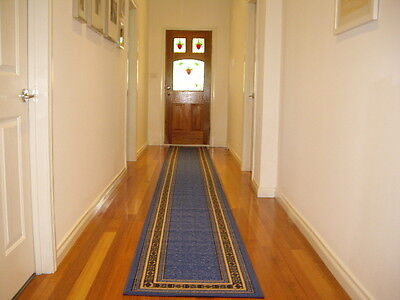 Hallway Runner Hall Runner Rug Modern Blue 5 Metres Long FREE DELIVERY 34645