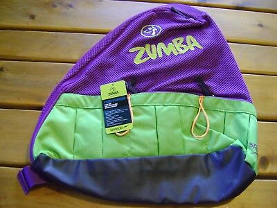 Zumba Backpack Sling Bag Speedo Vivid Violet purple New with tags   RARE