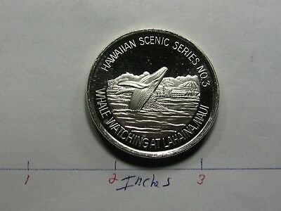 Hawaii Scenic No 3 Blue Whale Watching At Lahaina Maui Rare 999 Silver Coin