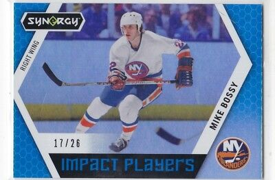 Mike Bossy 2017-18 17-18 Upper Deck Synergy Impact Players Blue #17/26