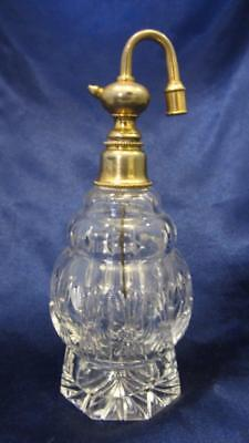 BIG & BEAUTIFUL Cut Glass Atomizer Perfume Bottle - Circa Early 1900's