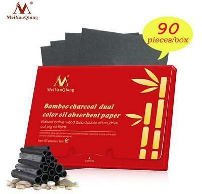 Bamboo Charcoal Dual Color Oil Absorbent Paper Face Cleanser Oil Absorbing Sheet