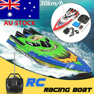 AU 1/2x Racing Water Remote Control Ship Motor Radio High Speed RC Boat Kids Toy