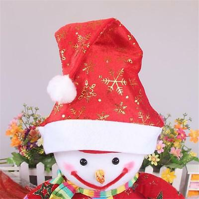 Christmas Party Baby Kid Santa Hat Red And White Xmas Cap for Santa Claus.AU