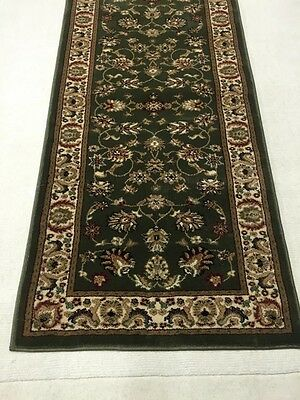 Hallway Runner Hall Runner Rug Persian Designer 3 Metres Long 2 Green