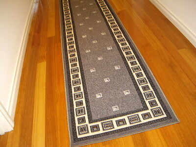 Hallway Runner Hall Runner Rug Modern Grey 4 Metres Long FREE DELIVERY