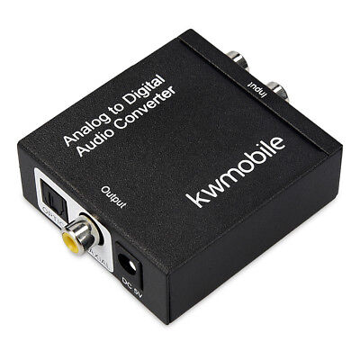 kwmobile analog audio converter RCA R / L jack to Toslink Digital Coaxial SPDIF