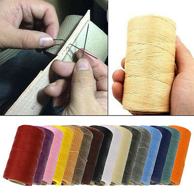 Sewing Waxed Thread Yarn For Crafts Leather Shoes All Purpose 260m 1mm 16 Colors