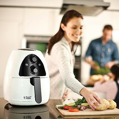 Russell Hobbs Purifry Airfryer Heißluft-Fritteuse fettfrei ohne Öl Fritöse timer