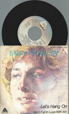 "7""   Barry Manilow ‎– Let's Hang On"