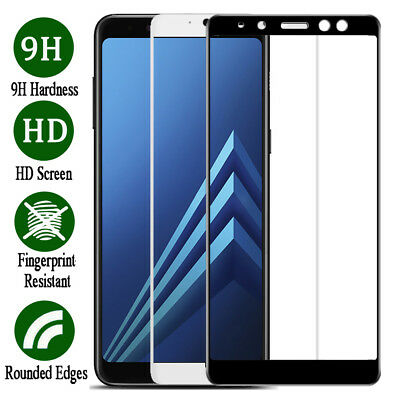 3D Full Cover 9H Tempered Glass Screen Protector For Samsung Galaxy A8 A8+ 2018