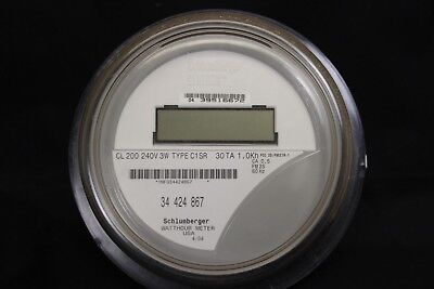 $3 Shipping   Itron Schlumberger Watthour Meter MD C1SR CL200 240V 3W FM2S 4 lug