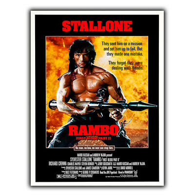 RAMBO FIRST BLOOD PART 2 METAL SIGN WALL PLAQUE Film Movie classic cinema poster