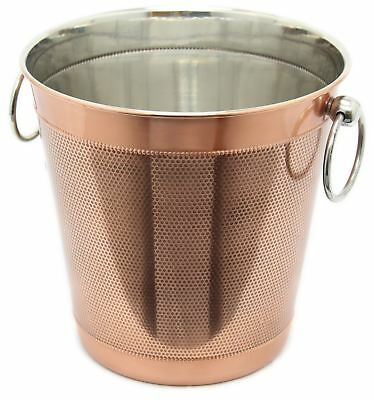 Luxury Copper Metal Champagne Wine Drinks Ice Bucket with Handles