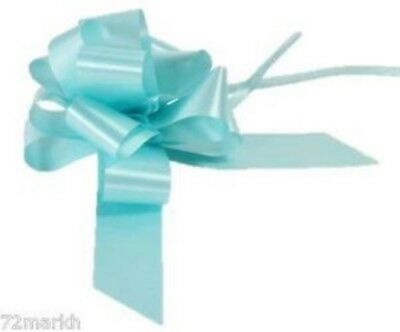 Large Baby Blue Pull Bow - Ideal As Gift Wrap, Florist, Wedding Bow