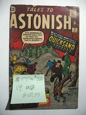 Vintage SILVER AGE Marvel Comic Book Tales to Astonish #32 VG S