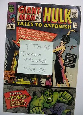 Vintage SILVER AGE MARVEL TALES TO ASTONISH 66 1ST MADAM MACABRE F