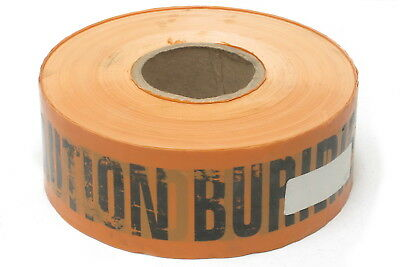 """Caution Buried Cable Below Plastic Safety Tape, 3"""" x 1000'"""