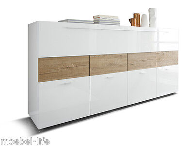 sideboard boom eiche sand pinie wei kommode schrank wohnzimmer holz highboard eur 199 00. Black Bedroom Furniture Sets. Home Design Ideas