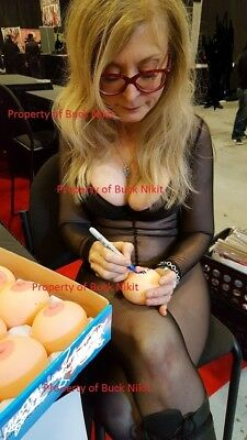 NINA HARTLEY signed/autographed BOOB BALL w/ PROOF! Includes display cube