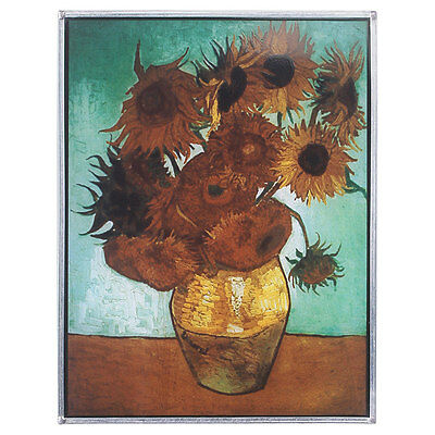 Vincent Van Gogh Sunflower In Vase Stained Glass Wall Art Replica Window Decor