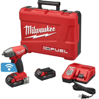 """Milwaukee 2758-22CT M18 FUEL 18V 3/8"""" Compact Impact Wrench w/ Battery & One Key"""