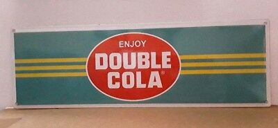 Double Cola Porcelain Sign Pop Soda Kitchen Bar Cafe Wall Advertise