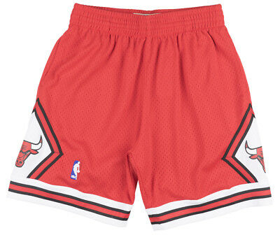 Mitchell and Ness Chicago Bulls 1997-1998 Swingman Shorts Mens Red