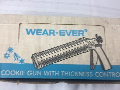 Vintage Wear-Ever Cookie Gun With Thickness Control  in Original Box