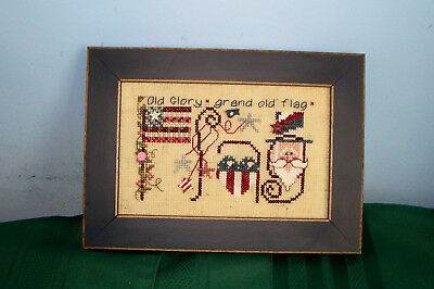 Shepherd's Bush Flag Completed Cross Stitch Picture Monthly Musings Patriotic