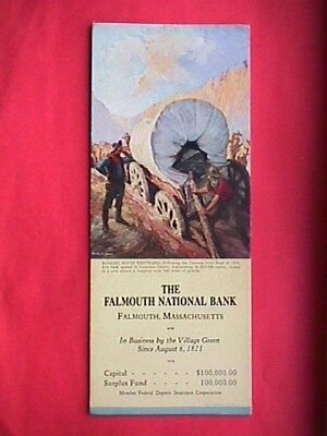Falmouth National Bank Collectible Advertising Blotter