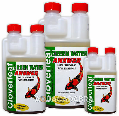 Cloverleaf Green Water Answer Algae Control Away Safe Treatment Koi Pond Fish