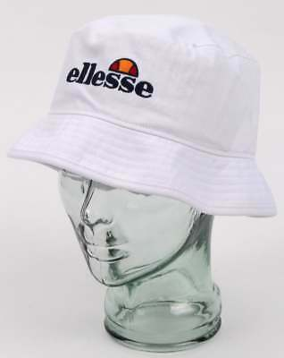 19423b026f3 ELLESSE EMBROIDERED LOGO Bucket Hat in White - Binno