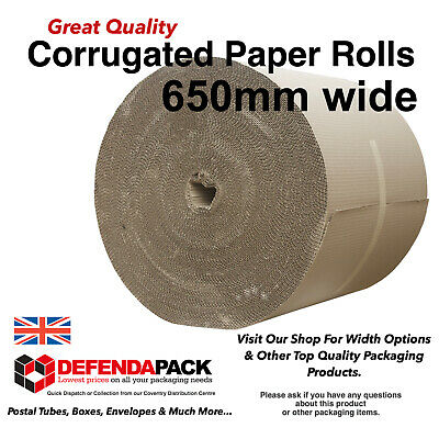 1 x 650mm x 75m ROLL CORRUGATED SINGLE FACE PROTECTIVE PAPER PACKING WRAPPING