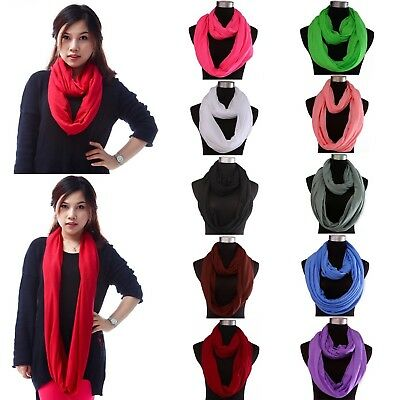 Womens Infinity Scarf Lightweight Loop Wrap Shawl Single Double Loop Sheer Scarf
