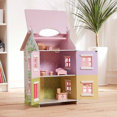 Wood House Dollhouse Girls Toy Sweet Pea Cottage 7 Accessories (3+Years) NEW OB