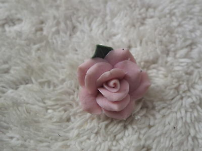 Pink Porcelain Rose Pin (D68)