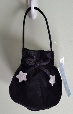 NEW Old Navy Toddler Girls Poly Velvet PURSE Pouch BLACK & SILVER Dressy #142218
