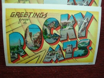 Greetings From The Rocky Mts. - Vint.  30 Pc. Orig. N.o.s. Postcard Lot-Nice!