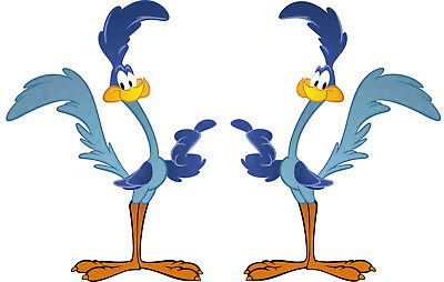 2x20cm Roadrunner Oldschool Sticker Aufkleber Rockabilly Autoaufkleber USA Comic