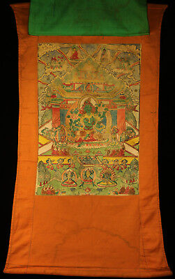 "Wonderful 19/20th Old Antique Tibetan Tibet Tangka Thangka ""The Green Tara"""
