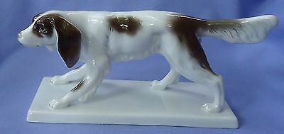 English Setter Springer Spaniel Dog Czechoslovakia Pirkenhammer 8""