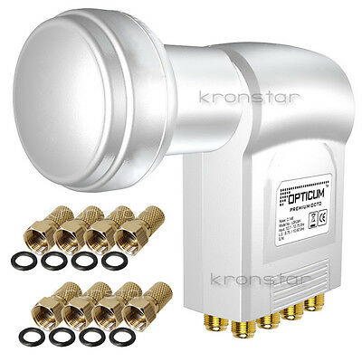 3x LNB OCTO 0,1dB DIGITAL Opticum TESTSIEGER Switch 8 Teilnehmer 4K Ultra HD 3D